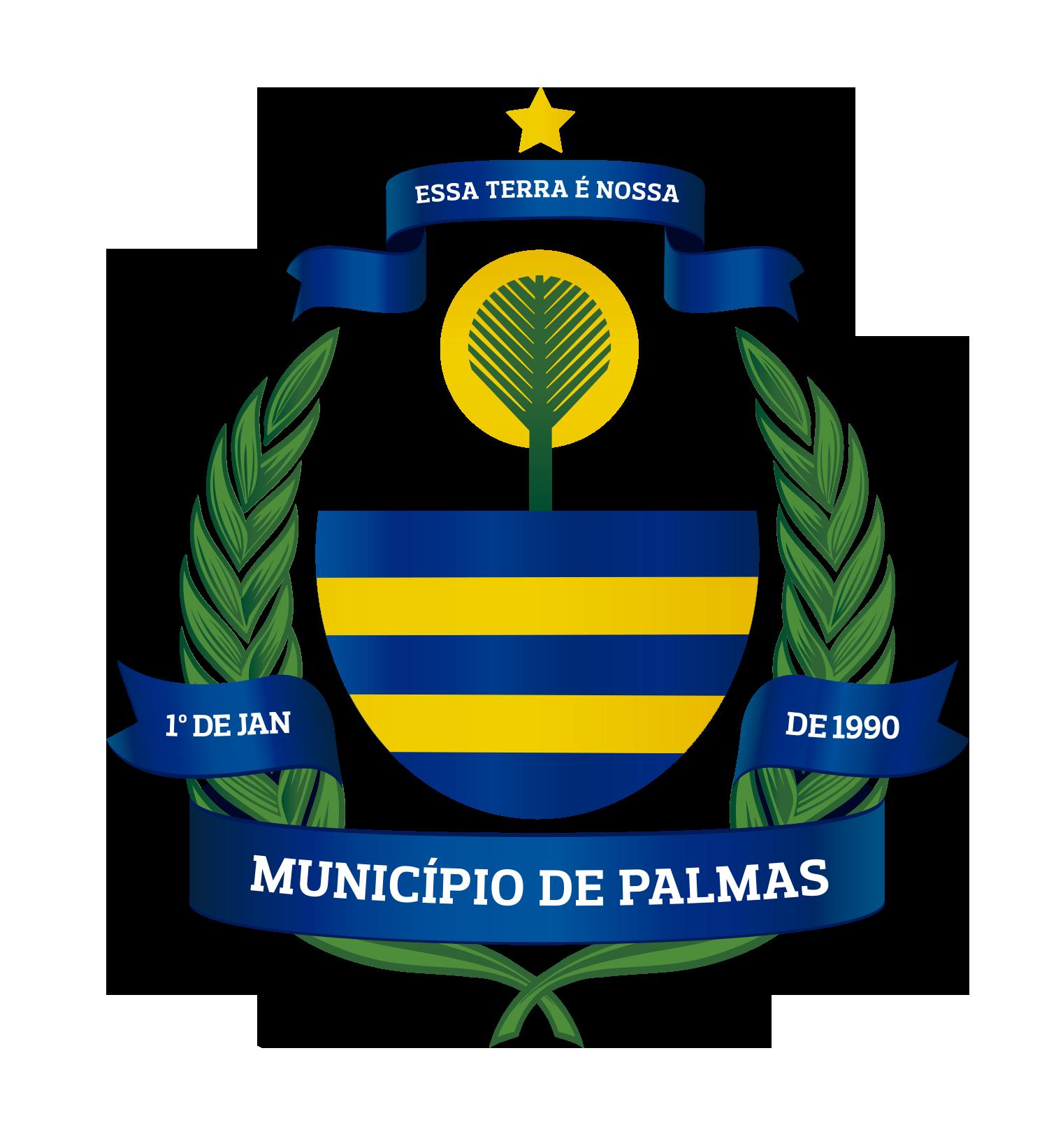 Brasão prefeitura municipal de Palmas